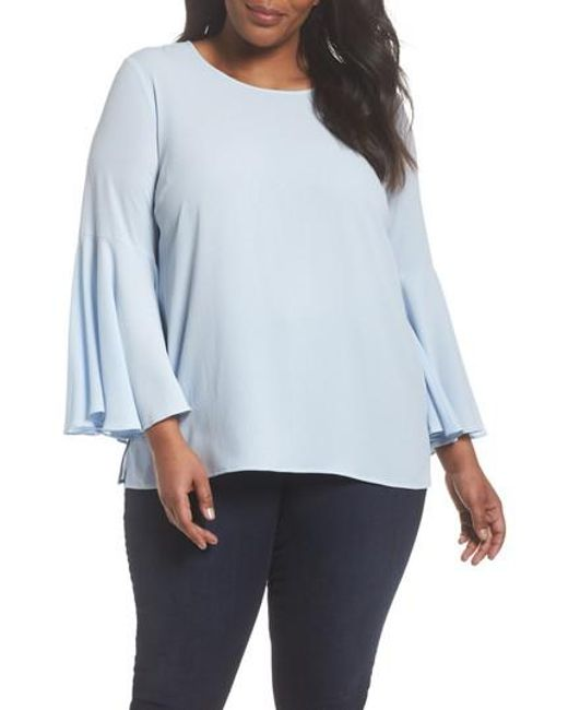 Vince Camuto - Blue Bell Sleeve Blouse - Lyst