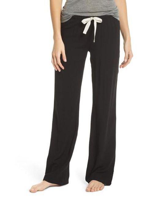 Joe's - Black Wide Leg Pajama Pants - Lyst