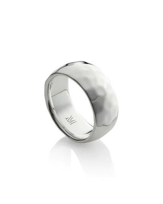 Monica Vinader - Metallic Alta Hammered Ring - Lyst