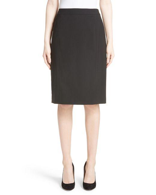 Lafayette 148 New York - Black Stretch Wool Pencil Skirt - Lyst