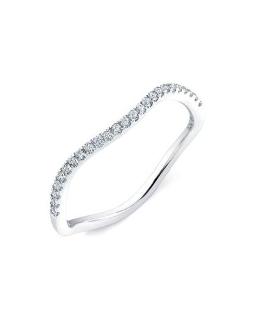 Bony Levy | White 'stackable' Straight Diamond Band Ring (nordstrom Exclusive) | Lyst