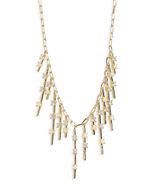 Melinda Maria - Metallic Fluted Fringe Opal Necklace - Lyst