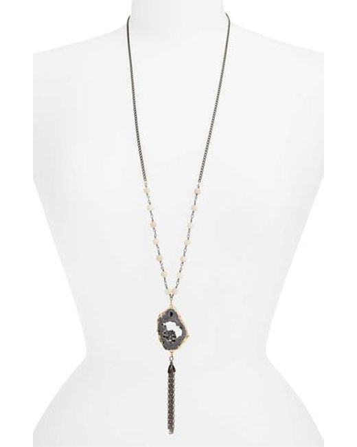 Mad Jewels - Metallic Katey Tassel Pendant Necklace - Lyst