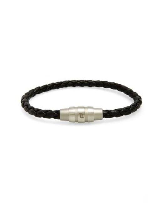 Porsche Design   Black 'grooves' Bracelet for Men   Lyst