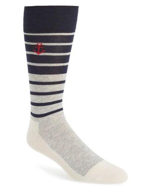 Cole Haan - Gray Stripe Socks for Men - Lyst