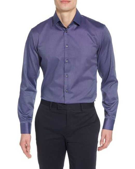 Calibrate - Multicolor Trim Fit Non-iron Stretch Solid Dress Shirt for Men - Lyst