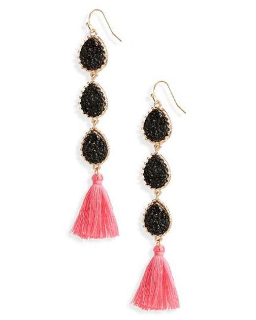 Panacea | Metallic Linear Earrings | Lyst