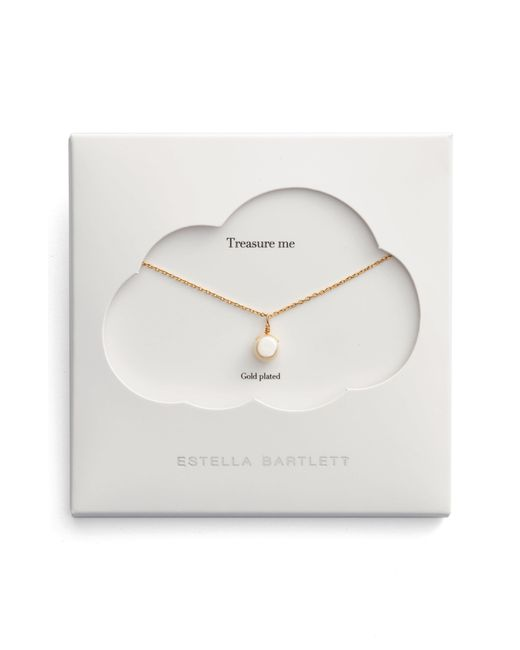 Estella Bartlett - Metallic Treasure Me Pearl Necklace - Lyst