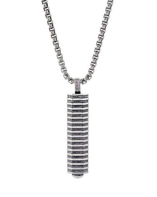 Ben Sherman | Metallic Geo Pendant Necklace for Men | Lyst