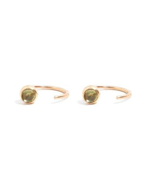 Melissa Joy Manning | Metallic Peridot Hug Hoop Earrings | Lyst
