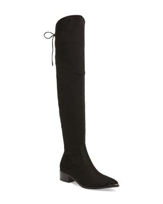 Marc Fisher | Black . Yuna Over The Knee Boot | Lyst