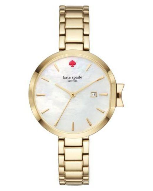 Kate Spade | Metallic Park Row Bracelet Watch | Lyst