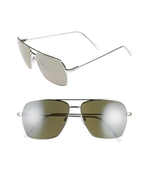ed8dfb5b86 Electric - Metallic  av2  59mm Navigator Sunglasses - Platinum  Grey   Silver Chrome