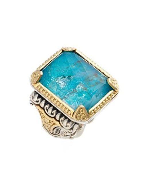 Konstantino | Blue 'iliada' Semiprecious Ring | Lyst