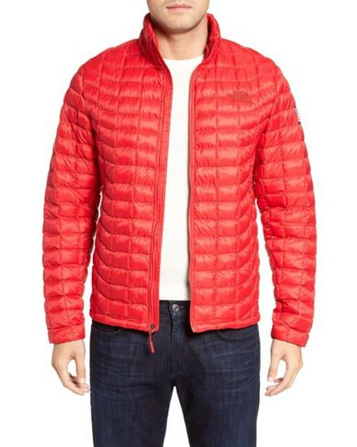 The North Face | Red International Collection Thermoball Primaloft Jacket for Men | Lyst