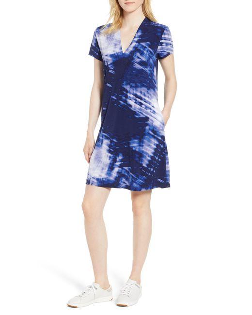 Kenneth Cole - Blue Jersey Shift Dress - Lyst