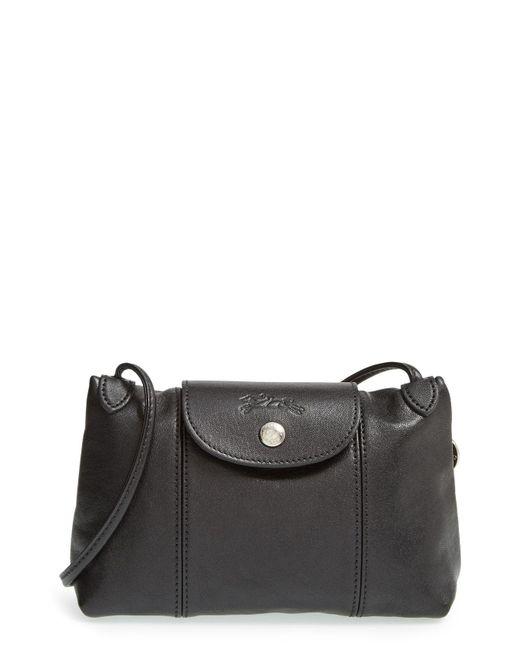 Longchamp - Brown Le Pliage Cuir Cross-Body Bag - Lyst