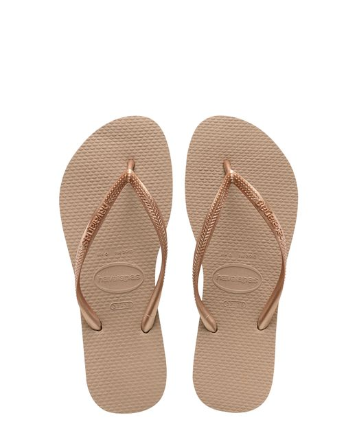 Havaianas - Pink Slim Rubber Flip-Flops - Lyst