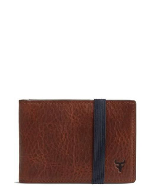 Trask | Brown Leather Money Clip Wallet for Men | Lyst