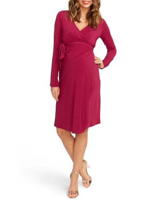 Rosie Pope - Blue Wrap Maternity Dress - Lyst