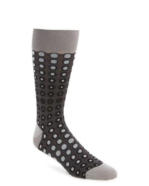 Bugatchi   Gray Dot Socks for Men   Lyst