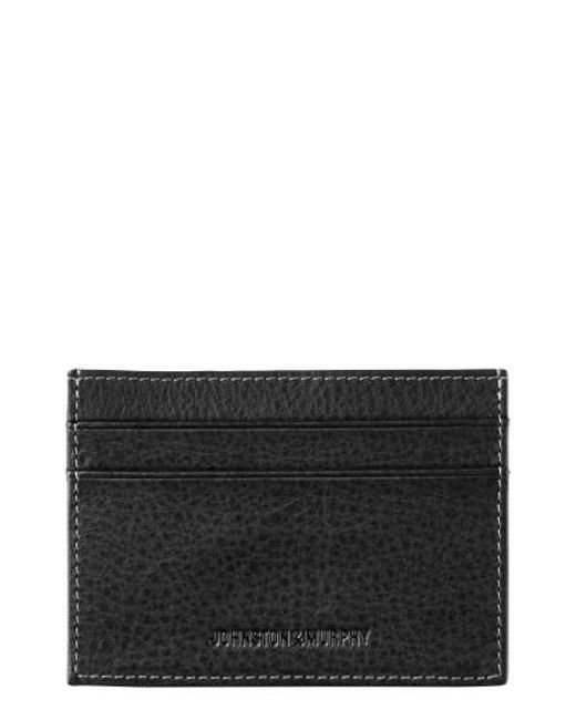 Johnston & Murphy - Black Leather Card Case - Lyst