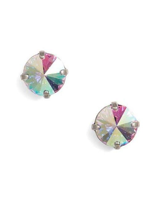 Sorrelli - Blue Radiant Crystal Stud Earrings - Lyst
