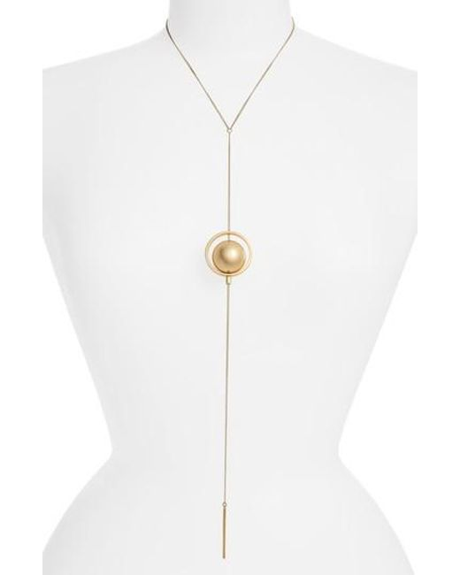 Jenny Bird - Metallic Saros Y-necklace - Lyst