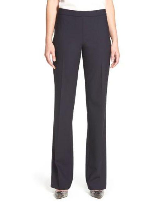 BOSS - Blue 'tulea' Bootcut Stretch Wool Trousers - Lyst