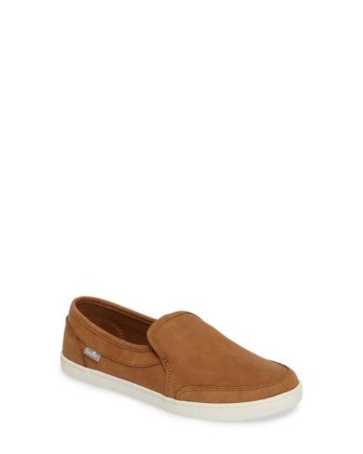 Sanuk | Brown 'pair O Dice' Slip On for Men | Lyst