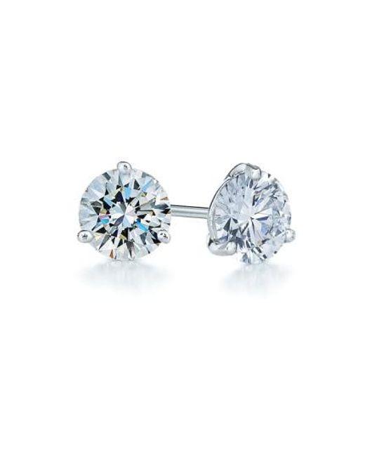 Kwiat - Blue 1.25ct Tw Diamond & Platinum Stud Earrings - Lyst