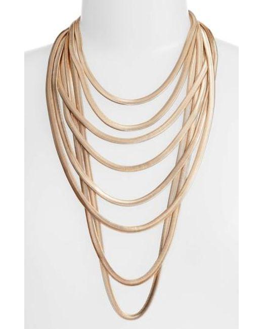 Adia Kibur | Metallic Flat Chain Layer Necklace | Lyst