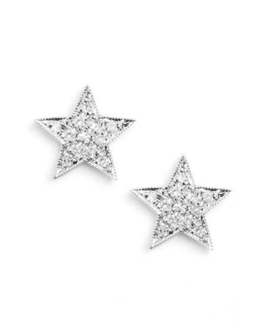 Dana Rebecca   Metallic 'julianne Himiko' Diamond Star Stud Earrings   Lyst