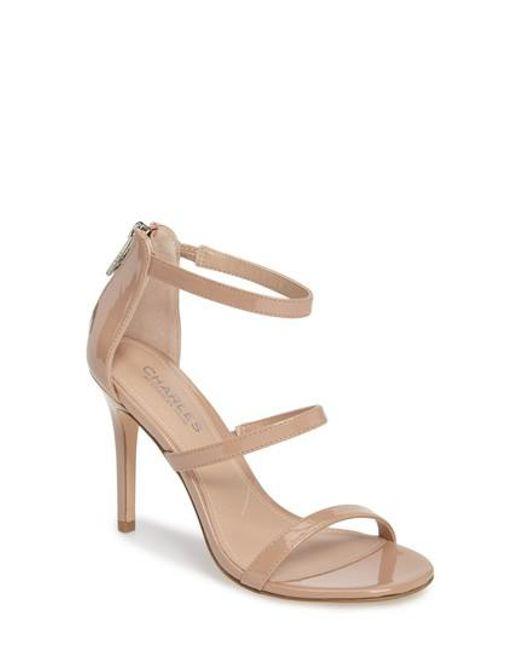 Charles David | Blue Ria Strappy Sandal | Lyst