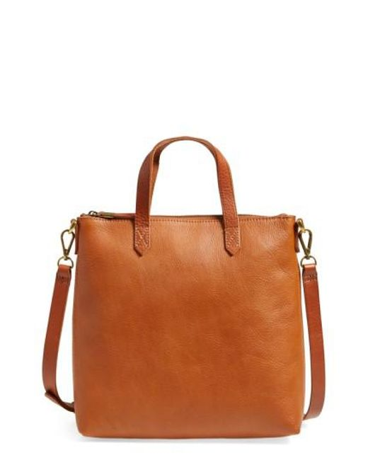 Madewell | Brown The Transport Leather Crossbody Bag | Lyst