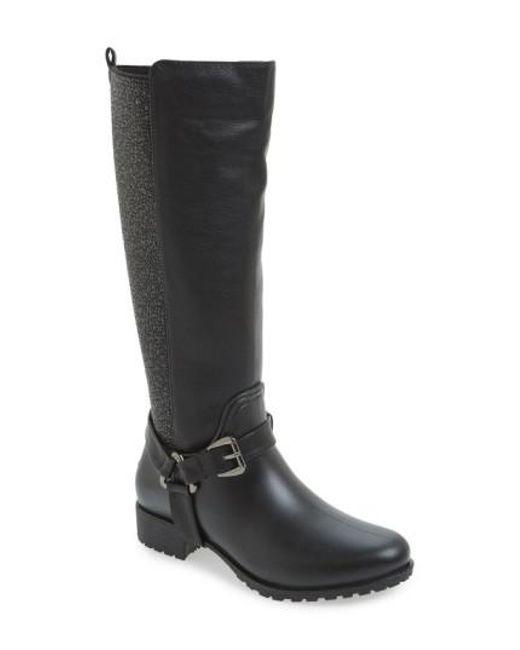 Dav - Black 'kingston' Water Resistant Sparkle Boot - Lyst