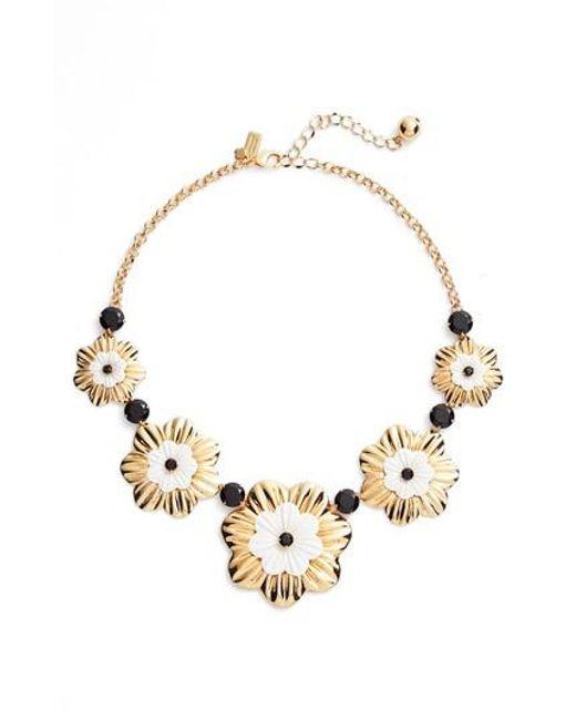 Kate Spade | Metallic Posy Grove Collar Necklace | Lyst