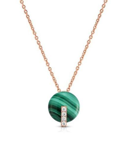 Lyst roberto coin malachite diamond pendant necklace in metallic roberto coin metallic malachite diamond pendant necklace lyst aloadofball Images
