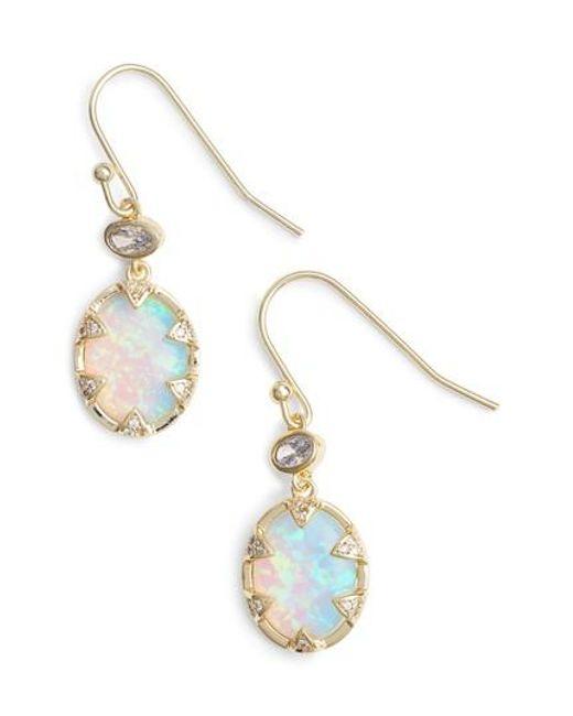 Melinda Maria - Metallic Alyssa Opal Drop Earrings - Lyst