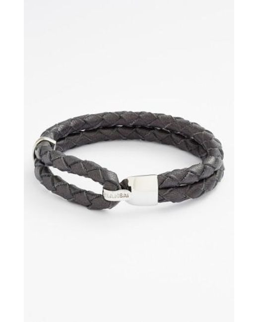 Miansai | Blue 'beacon' Braided Leather Bracelet for Men | Lyst