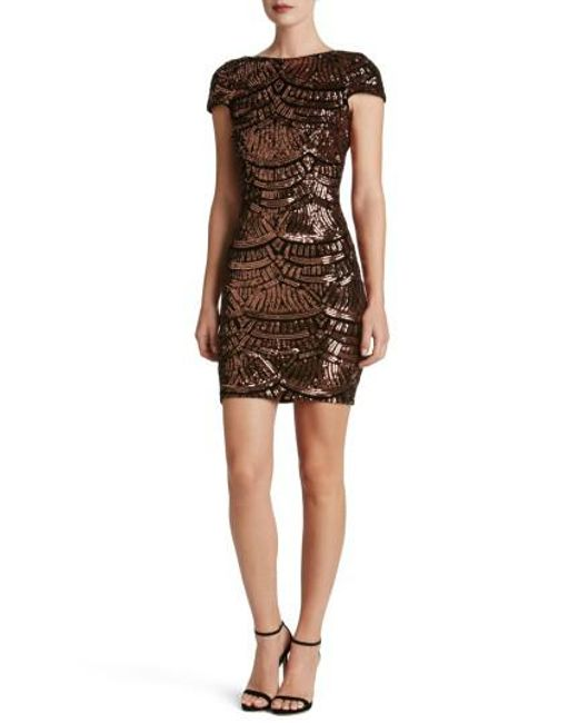 Dress the Population | Black Tabitha Sequin Body-con Dress | Lyst