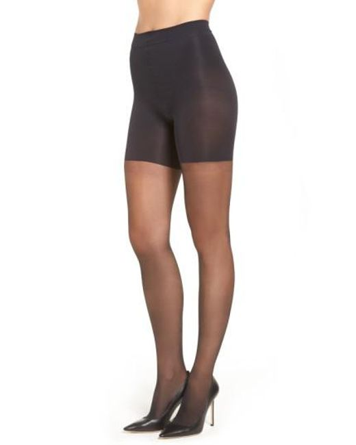 Spanx - Black Spanx Leg Support Sheers - Lyst