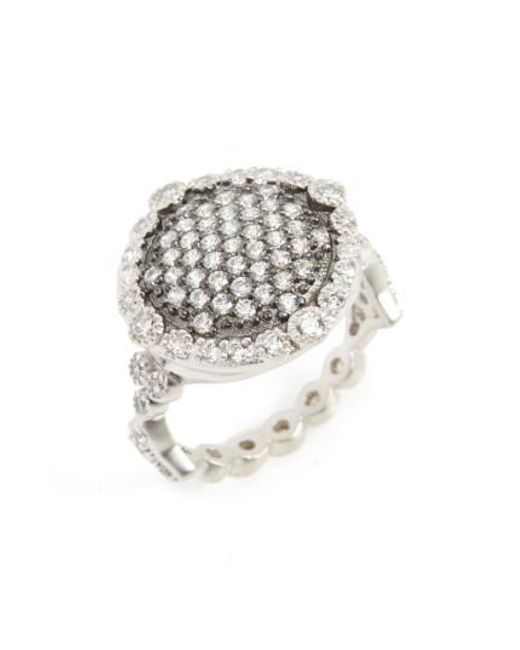 Freida Rothman | Metallic 'mercer' Pave Disc Ring | Lyst