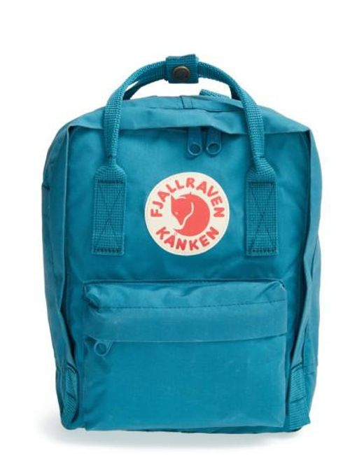 Fjallraven | Blue Mini Kanken Water-Resistant Backpack | Lyst