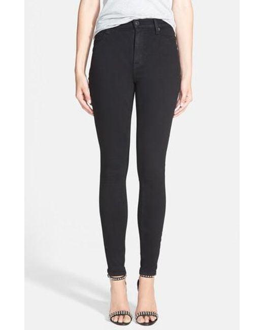 Hudson - Black Barbara High Waist Skinny Jeans - Lyst