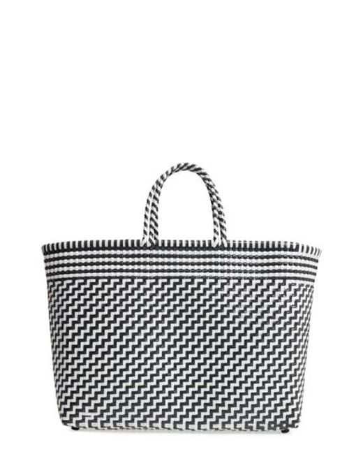 Truss - Black Large Woven Tote - Lyst