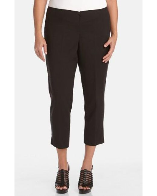 Karen Kane | Black Stretch Capri Pants | Lyst
