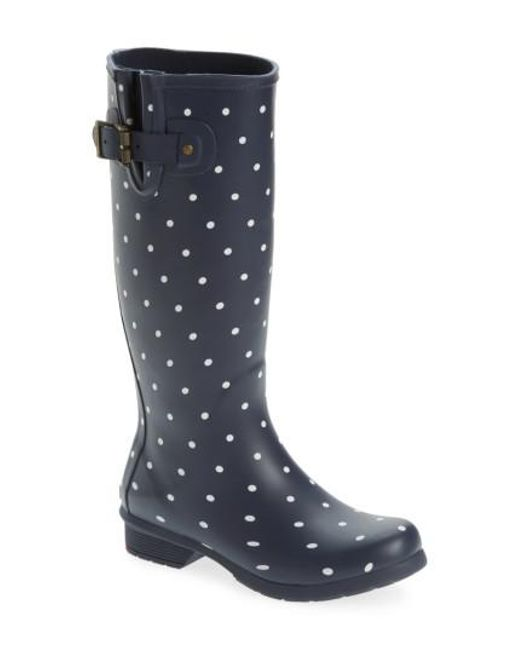 Chooka   Blue Classic Dot Rain Boot   Lyst