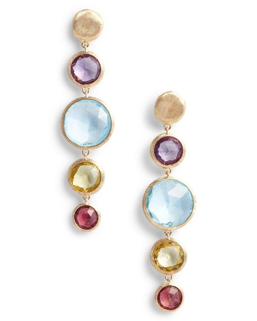Marco Bicego - Multicolor Jaipur Semiprecious Stone Drop Earrings - Lyst