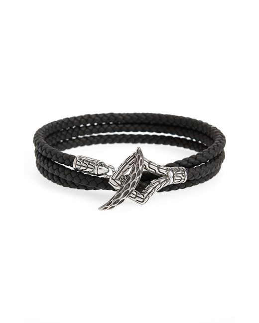 John Hardy - Black Legends Naga Triple Wrap Leather Bracelet for Men - Lyst